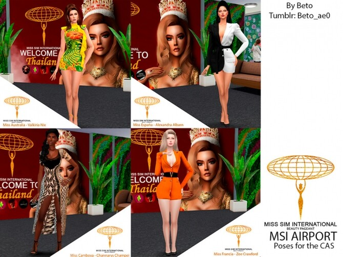 MSI AIRPORT CAS poses by Beto ae0 at TSR image 514 670x503 Sims 4 Updates