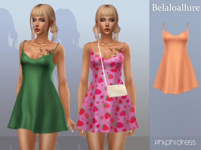 Sims 4 Belaloallure phi phi dress by belal1997 at TSR