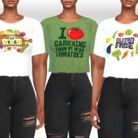 Vegan Farmers Crop Tops by Saliwa