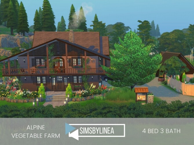 Sims 4 Alpine Vegetable Farm by SIMSBYLINEA at TSR