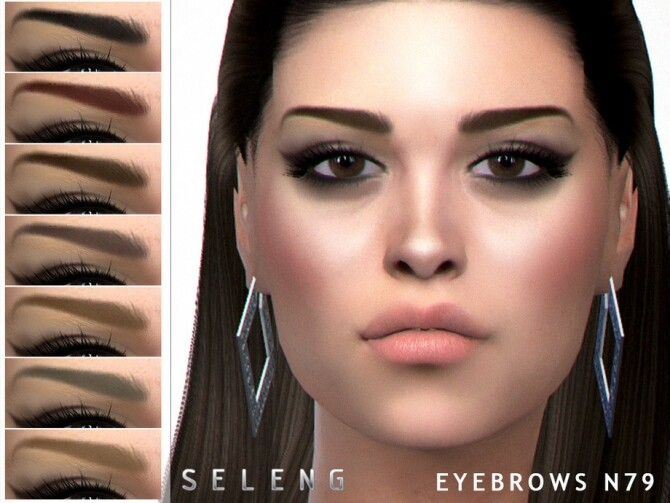 Eyebrows N79 by Seleng at TSR image 561 670x503 Sims 4 Updates
