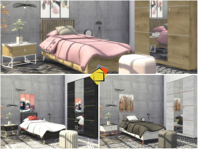 Sims 4 Luxora Bedroom by Onyxium at TSR