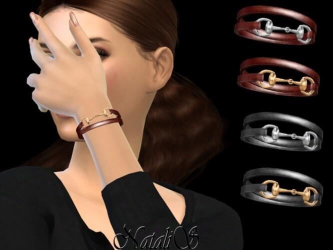 Horsebit leather wrap bracelet by NataliS