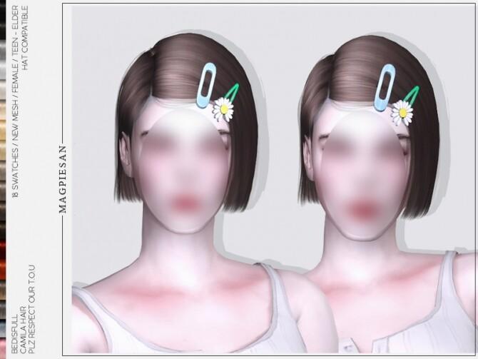 Sims 4 Camila hair by magpiesan at TSR