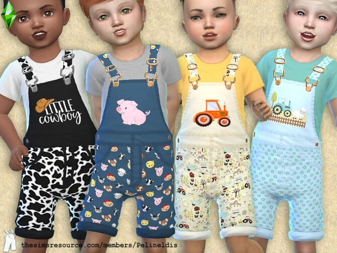 Sims 4 Toddler Farm Life Overall by Pelineldis at TSR