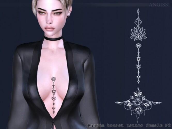 Random breast tattoo female N2 by ANGISSI
