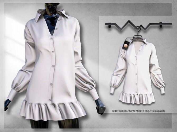 Sims 4 Shirt Dress BD305 by busra tr at TSR