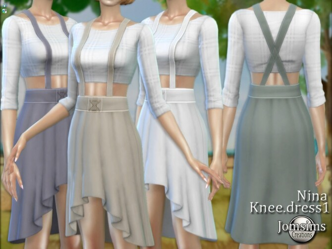 Nina farmer Knee dress 1 by  jomsims at TSR image 584 670x503 Sims 4 Updates
