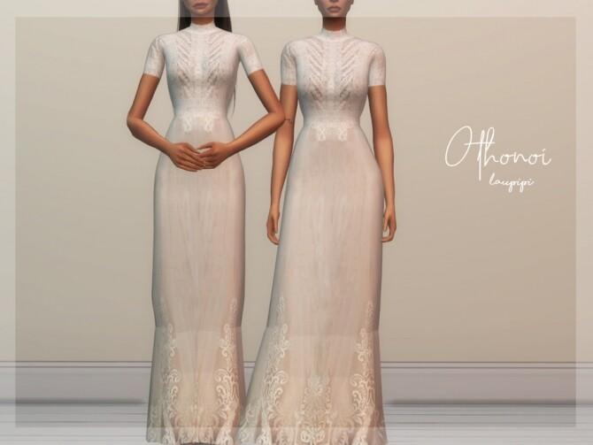 Sims 4 Othonoi Wedding Dress by laupipi at TSR