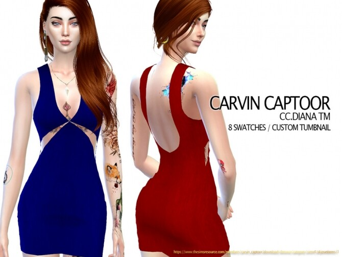 Sims 4 Diana TM dress by carvin captoor at TSR