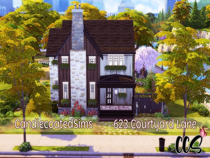 623 Courtyard Lane Family Home by candiecoatediv at TSR image 610 670x503 Sims 4 Updates