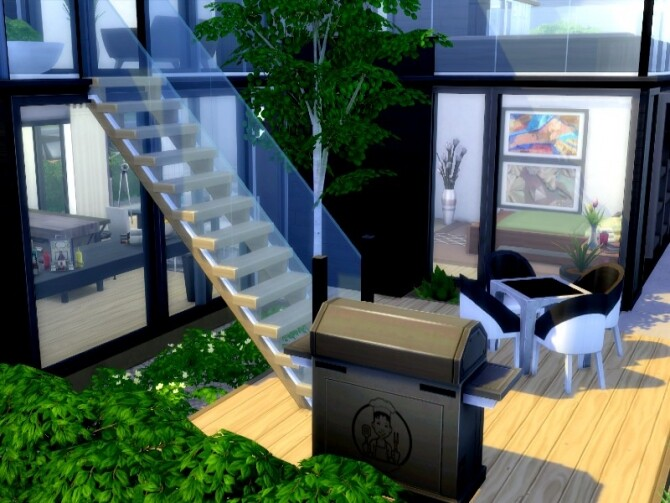 Sims 4 Black Pearl home by GenkaiHaretsu at TSR