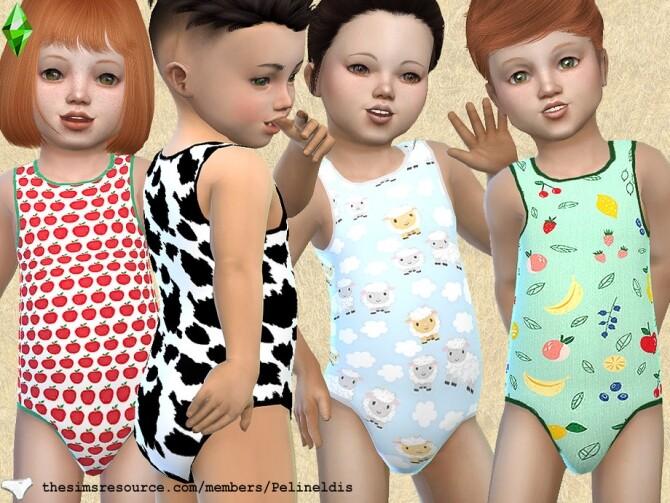 Sims 4 Toddler Farm Bodyvest 2 by Pelineldis at TSR
