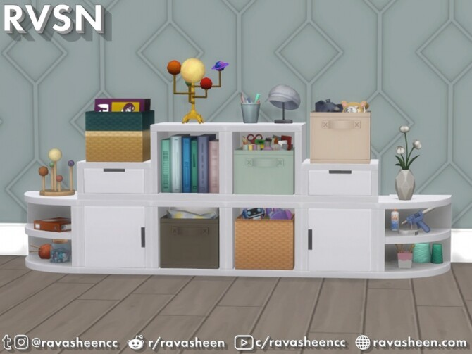 Sims 4 Storage Squared Cubby Inserts by RAVASHEEN at TSR