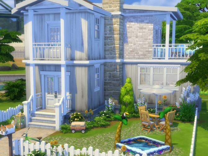 Sims 4 Minty House by FancyPantsGeneral112 at TSR