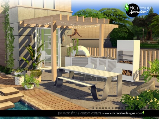 Sims 4 Hot wind patio set by SIMcredible at TSR