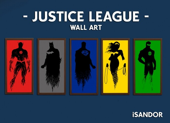Justice League Wall Art by iSandor