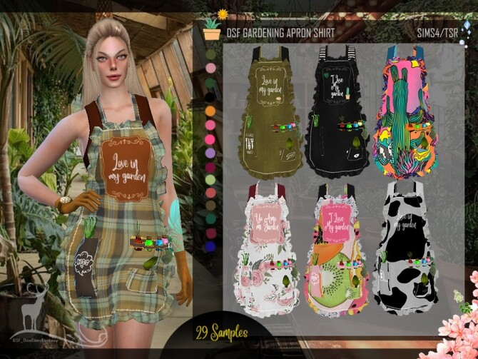 DSF GARDERING APRON SHIRT by DanSimsFantasy at TSR image 652 670x503 Sims 4 Updates