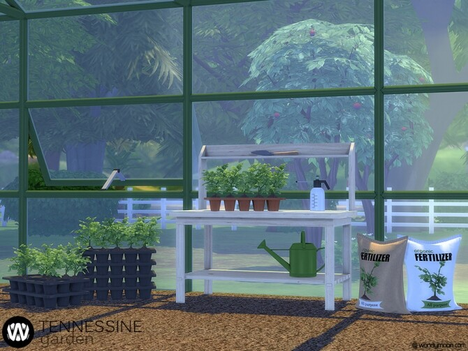 Sims 4 Tennessine Garden Growing Plants by wondymoon at TSR