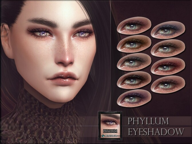 Sims 4 Phyllum Eyeshadow by RemusSirion at TSR