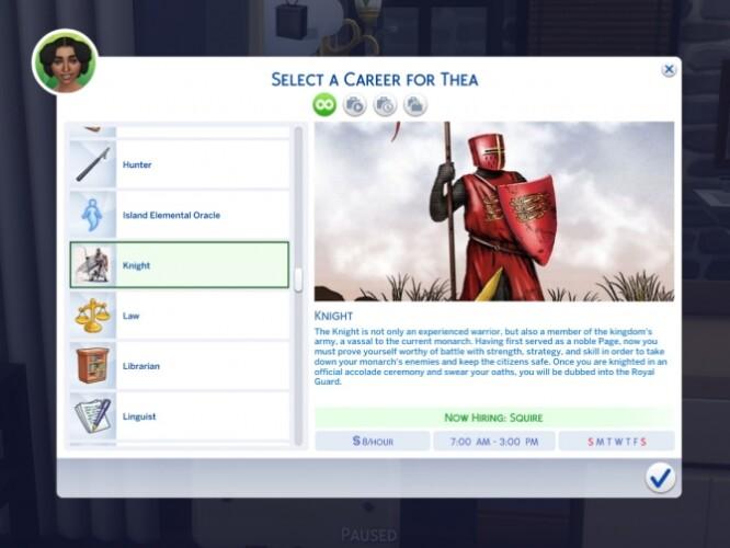 Knight Career mod by sokkarang