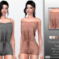 Knit Pajamas Set Top by mermaladesimtr