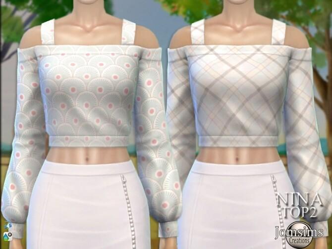 Sims 4 Nina farmer Top 2 by  jomsims at TSR
