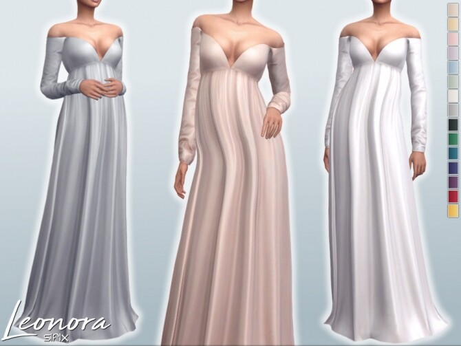 Sims 4 Leonora Dress by Sifix at TSR