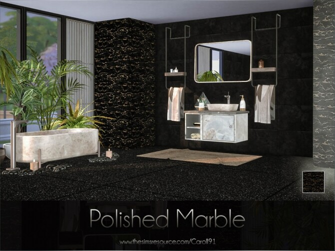 Sims 4 Polished Marble by Caroll91 at TSR