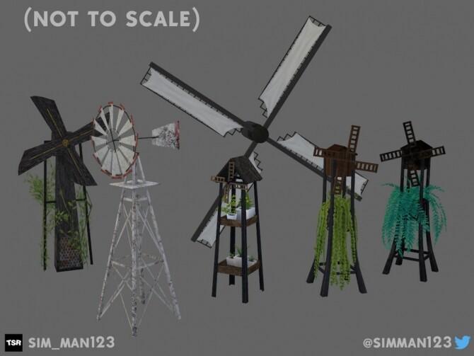 Sims 4 Windmills Eco Living by sim man123 at TSR