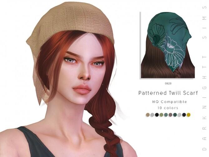 Sims 4 Patterned Twill Scarf by DarkNighTt at TSR