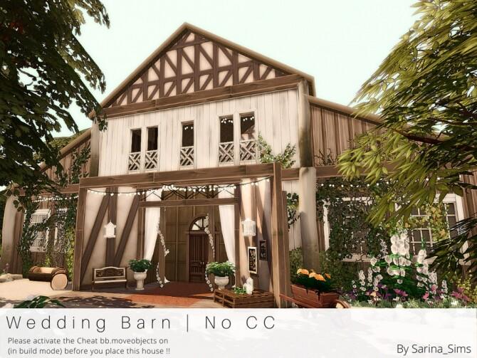 Sims 4 Wedding Barn by Sarina Sims at TSR