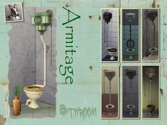 Sims 4 Armitage High Flush Toilets by Cyclonesue at TSR