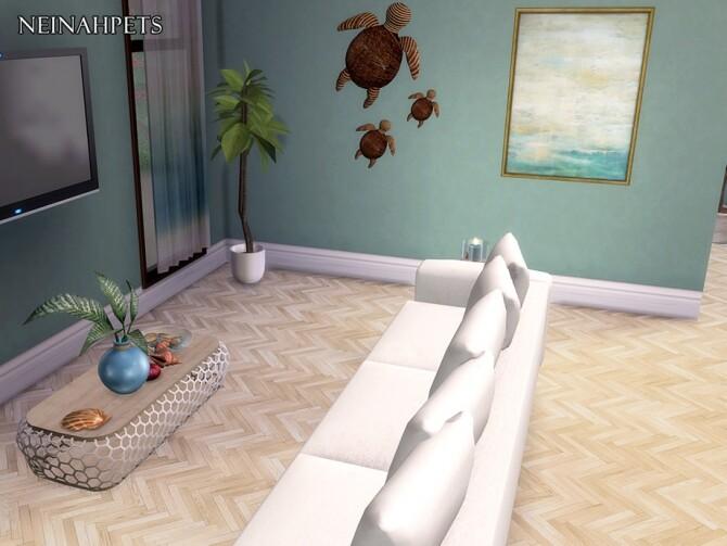 Sims 4 Cascadia Herringbone Wood Flooring by neinahpets at TSR