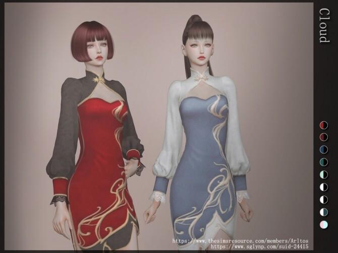 Sims 4 Cloud dress by Arltos at TSR
