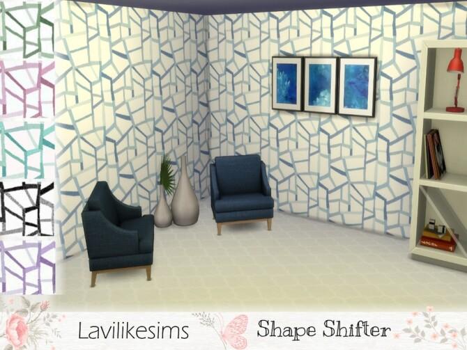 Sims 4 Shape Shifter Wallpaper by lavilikesims at TSR