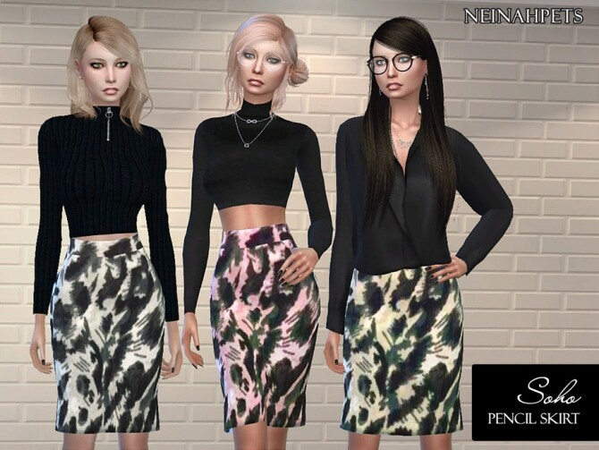 Soho Pencil Skirt by neinahpets at TSR image 7100 670x503 Sims 4 Updates