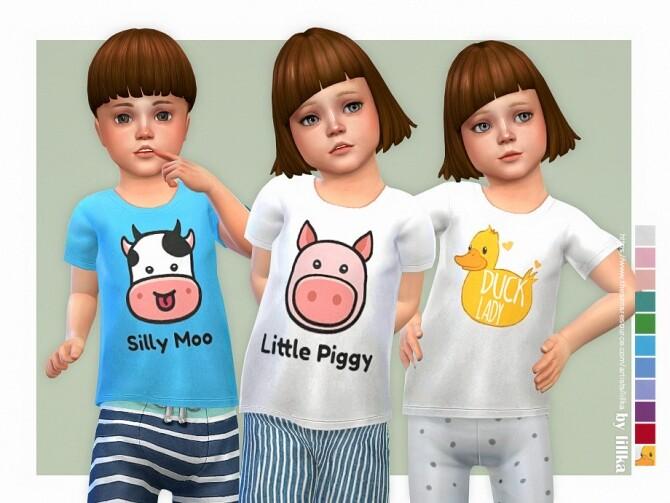 Sims 4 Cute Farm T Shirt by lillka at TSR