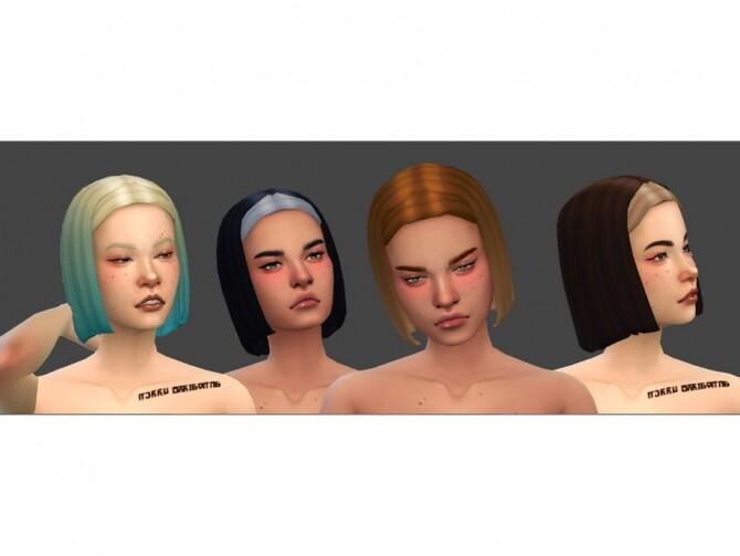 Sims 4 Priclia Hair by EvieSAR at TSR