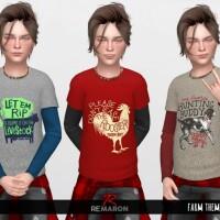 Farm 2 Shirts for Boys 01 by remaron