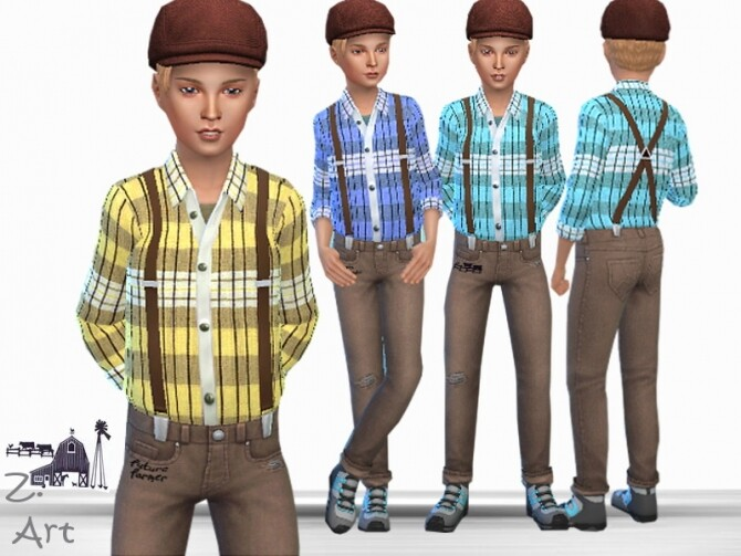 FarmZ 02 Outfit by Zuckerschnute20 at TSR image 726 670x503 Sims 4 Updates