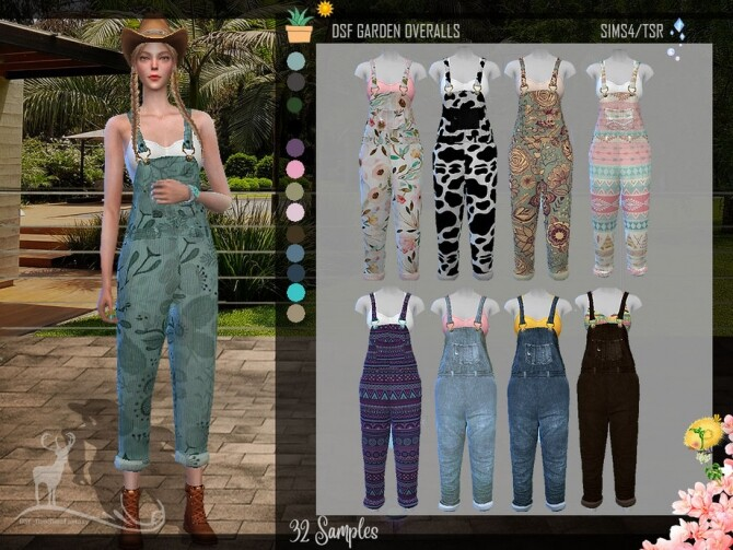 Sims 4 DSF GARDEN OVERALLS by DanSimsFantasy at TSR