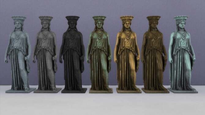 Sims 4 Caryatid statue by TheJim07 at Mod The Sims