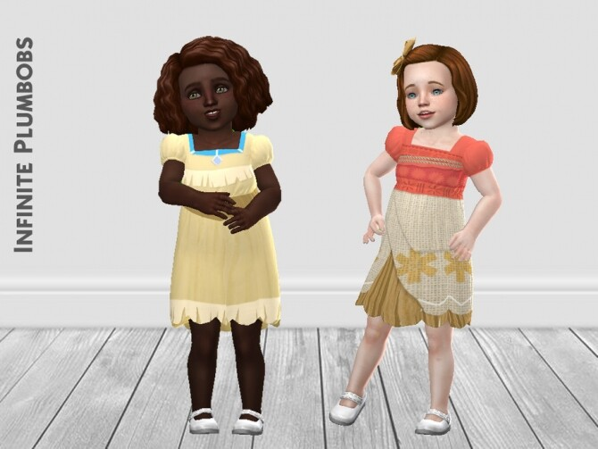 Sims 4 Toddler Princess Dresses II by InfinitePlumbobs at TSR