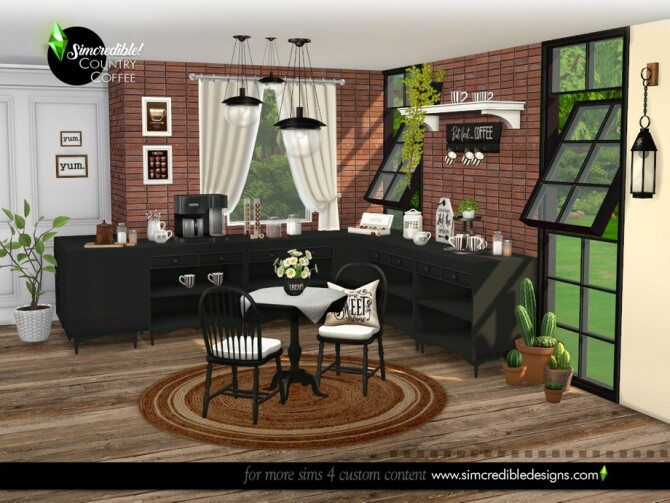 Country Coffee Set by SIMcredible at TSR image 747 670x503 Sims 4 Updates