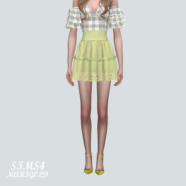 Sims 4 Lace Mini Skirt at Marigold