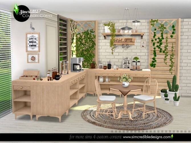 Country Coffee Set by SIMcredible at TSR image 758 670x503 Sims 4 Updates