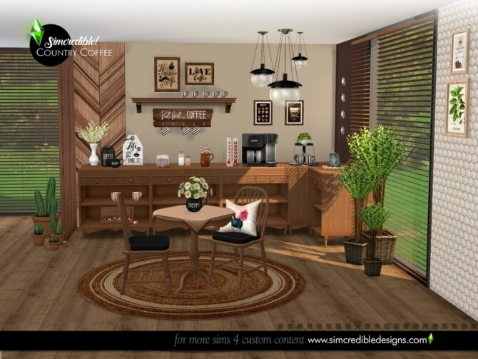 Country Coffee Set by SIMcredible at TSR image 768 670x503 Sims 4 Updates