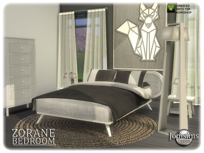 Sims 4 Zorane bedroom by jomsims at TSR