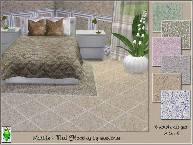 Marble tiled flooring by marcorse at TSR image 773 670x503 Sims 4 Updates